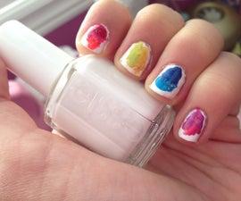 Rainbow Swirl Nails