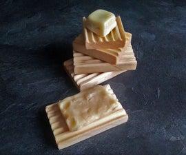 Wooden Soap Dish / Porte-savons En Bois