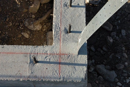 Square the Sill Plate Layout on the Foundation