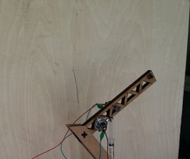 Lasercut crane w. automatic hydraulics