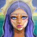 Mermaid Acrylic Portrait Painting
