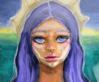 Mermaid Acrylic Portrait Painting