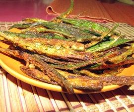 Deep Fried Crispy Spicy Okra