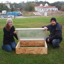 Cold frame construction with recycled materials
