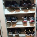 Use a Built in Shoe Rack for Flat Bottomed Shoes