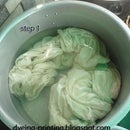 Cashmere Scarf Ice Dyeing and Steaming