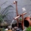 Copper Pipe Japanese Shishi-odoshi Fountain