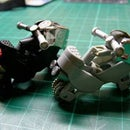 motorcycle toy model with 2 units of gas lighters