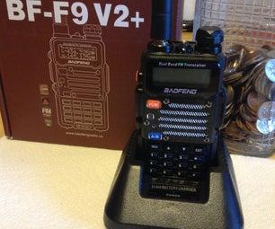 Baofeng FB-F9 V2+ Ham Radio Charging Stand Modification