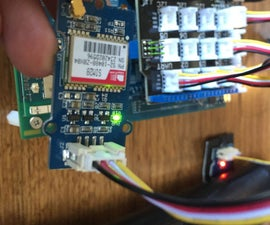 Use of GPS, hall sensor, LEDs and Firebase with the Edison