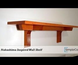 Nakashima Style Wall Shelf