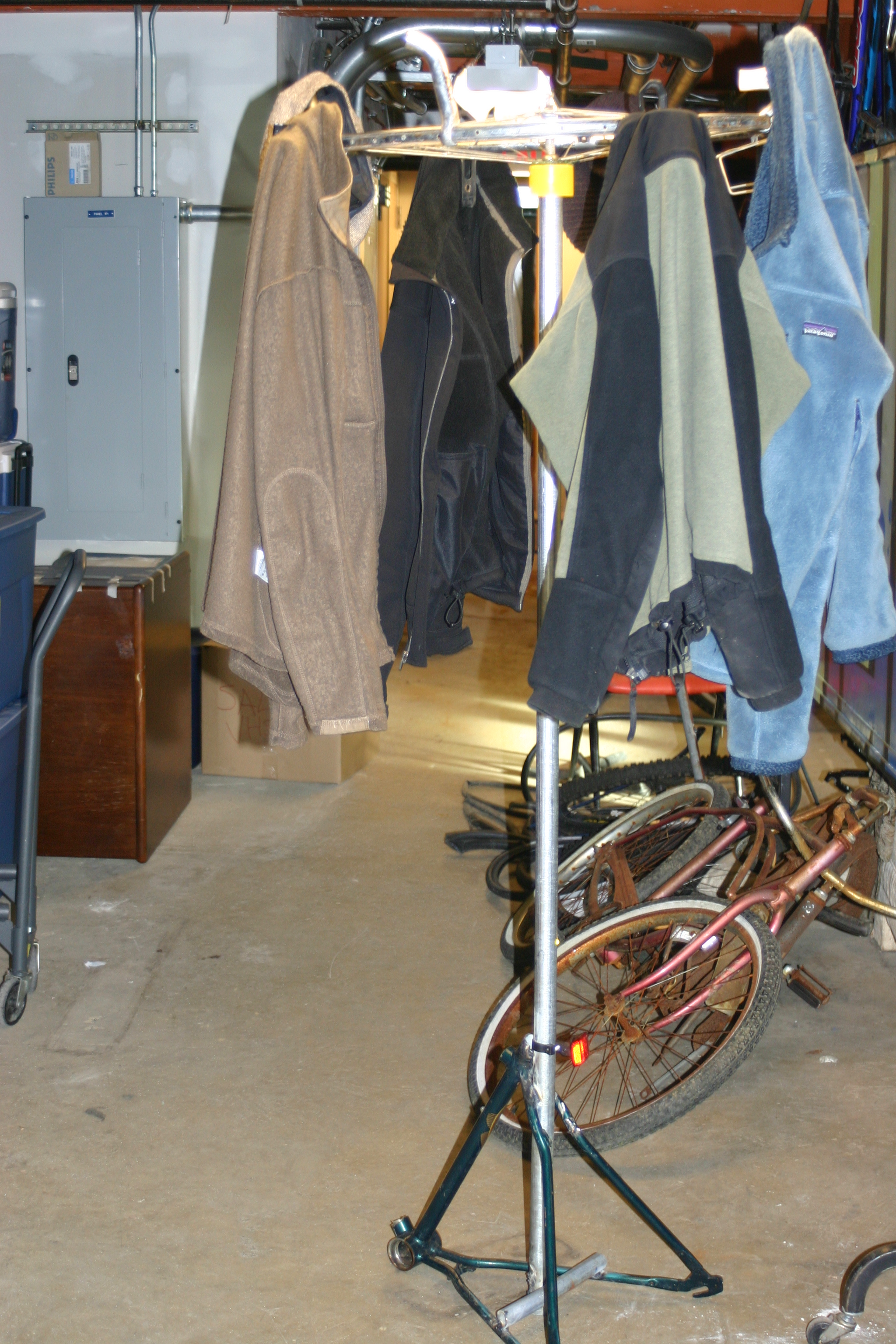 Picture of Coat Rack From Bicycle Parts!