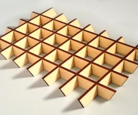 Create glue-less interlocking laser cut parts with sketchup slicemodeler