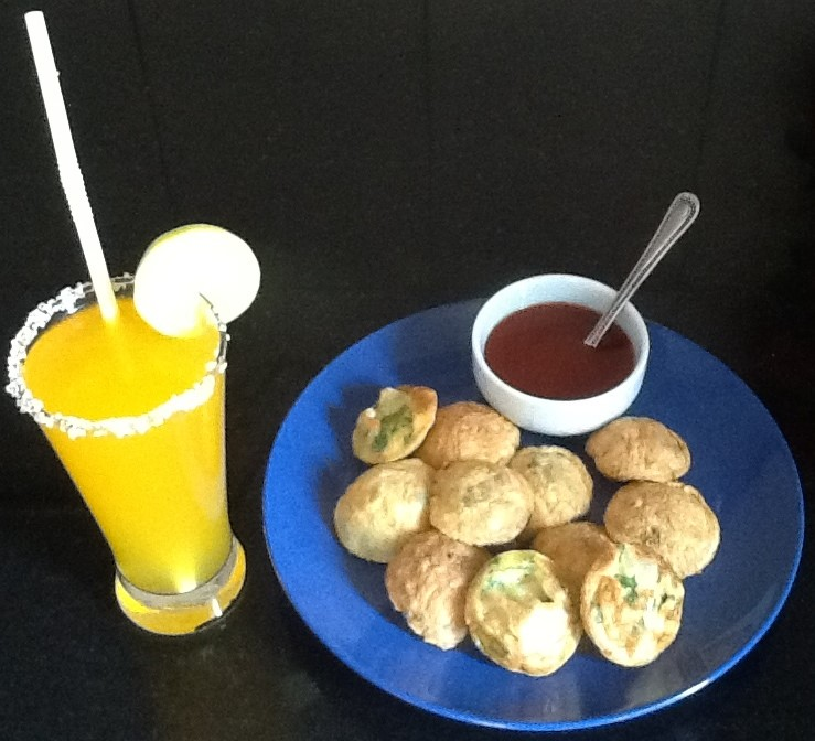 Picture of Drop Fried Coin Egg Bites (Low Fat Breakfast)