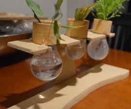 Light bulb Window sill planter