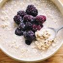 Blackberry Vanilla-Coconut-Chai Spiced Overnight Oats (Vegan, Gluten Free)