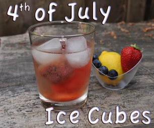 Fruity 4th of July Ice Cubes