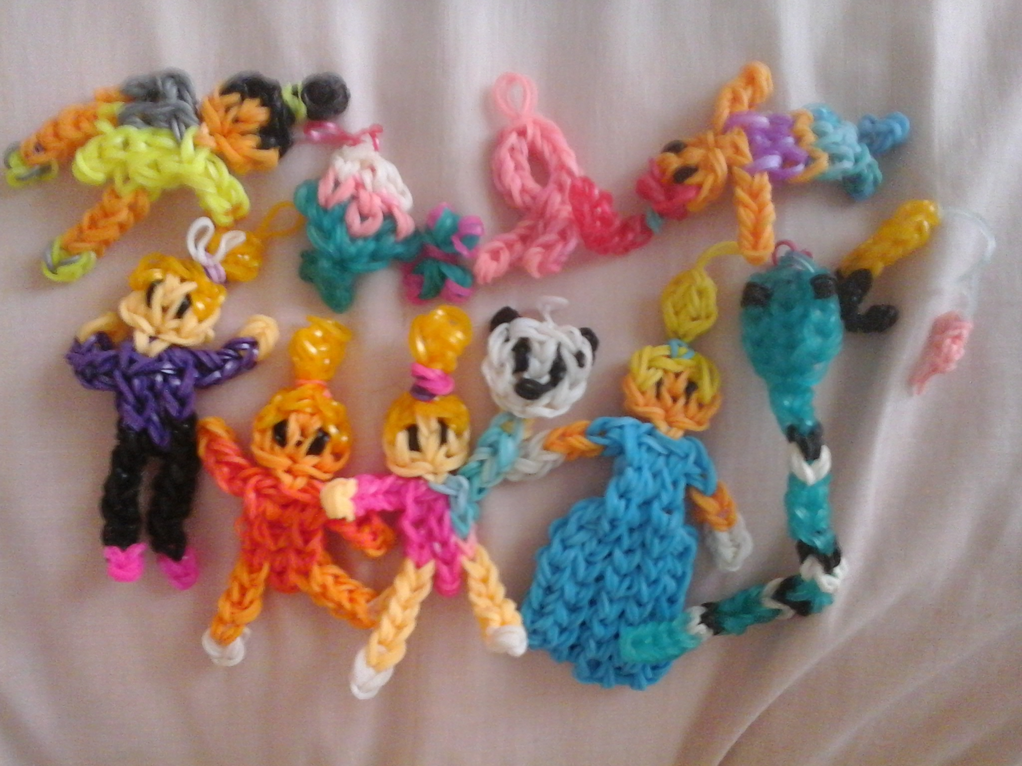 Picture of Some of My Loom Charms Tell Me If You Want Tutorials
