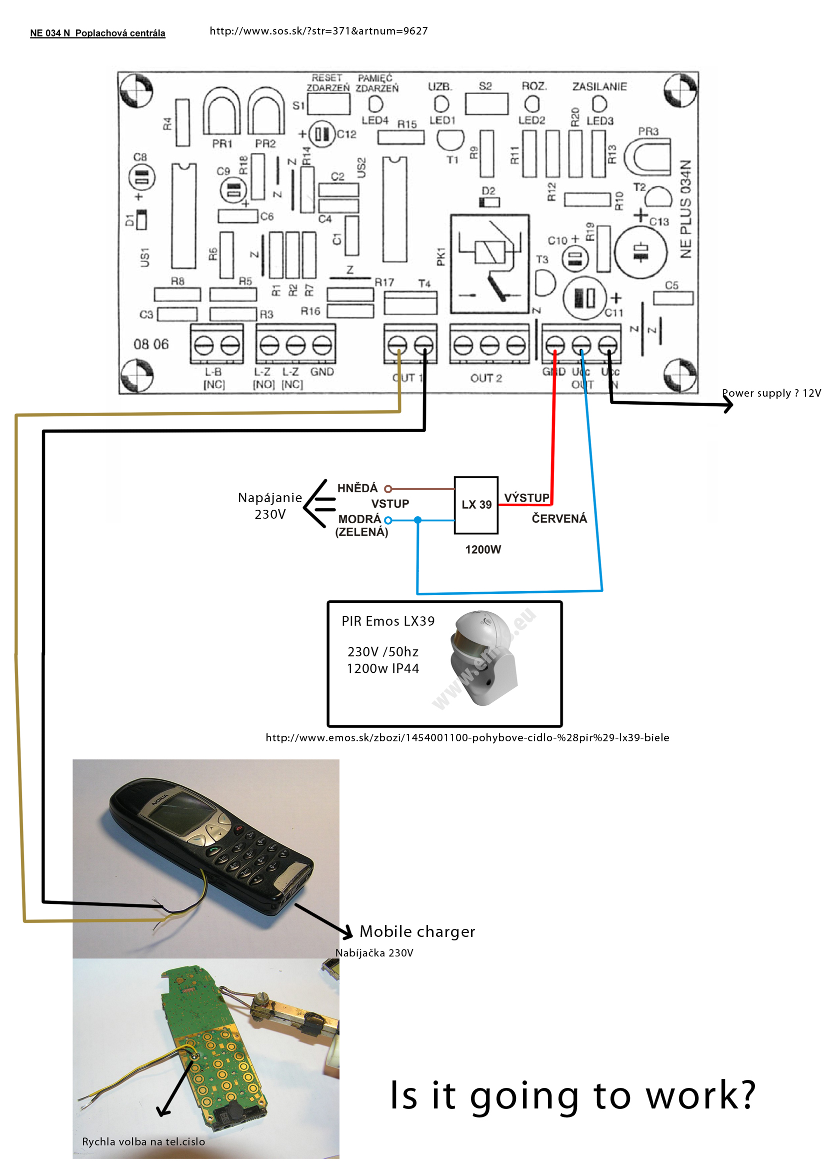Picture of Flat Security System With GSM Alarm