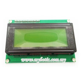 How to Use I2C Serial LCD 20X4 (Yellow Backlight)