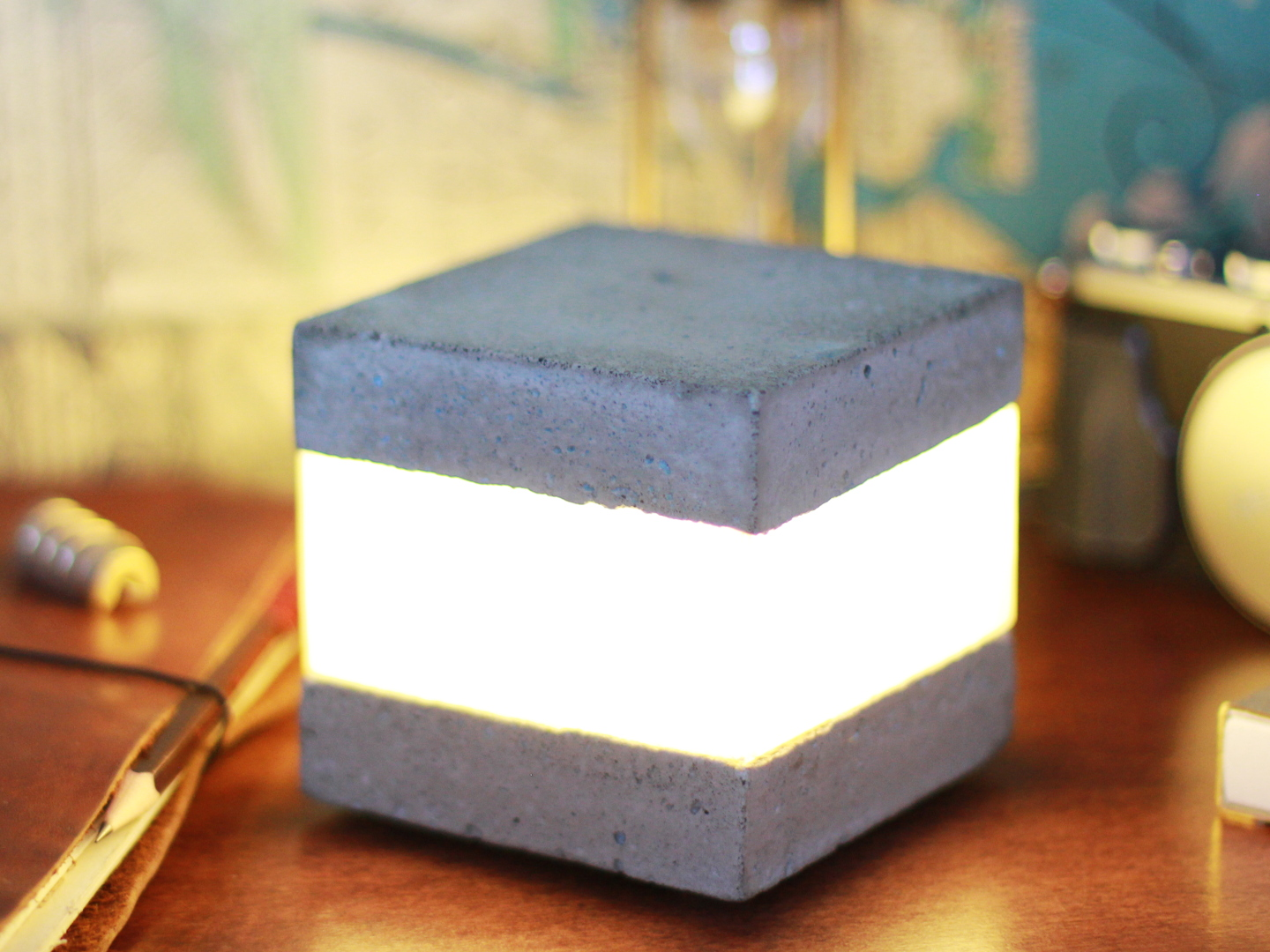 Picture of Concrete LED Light Cube