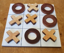 Making a Wooden Tic-Tac-Toe Game