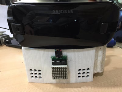 Stick the Samsung VR Onto the VR Sensory Device