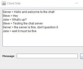 Creating a chat server using java