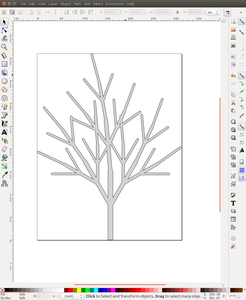 Inkscape Creates the Pdf of Cut and Etch