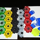 Paint on acrylic laser etched Settlers of Catan game