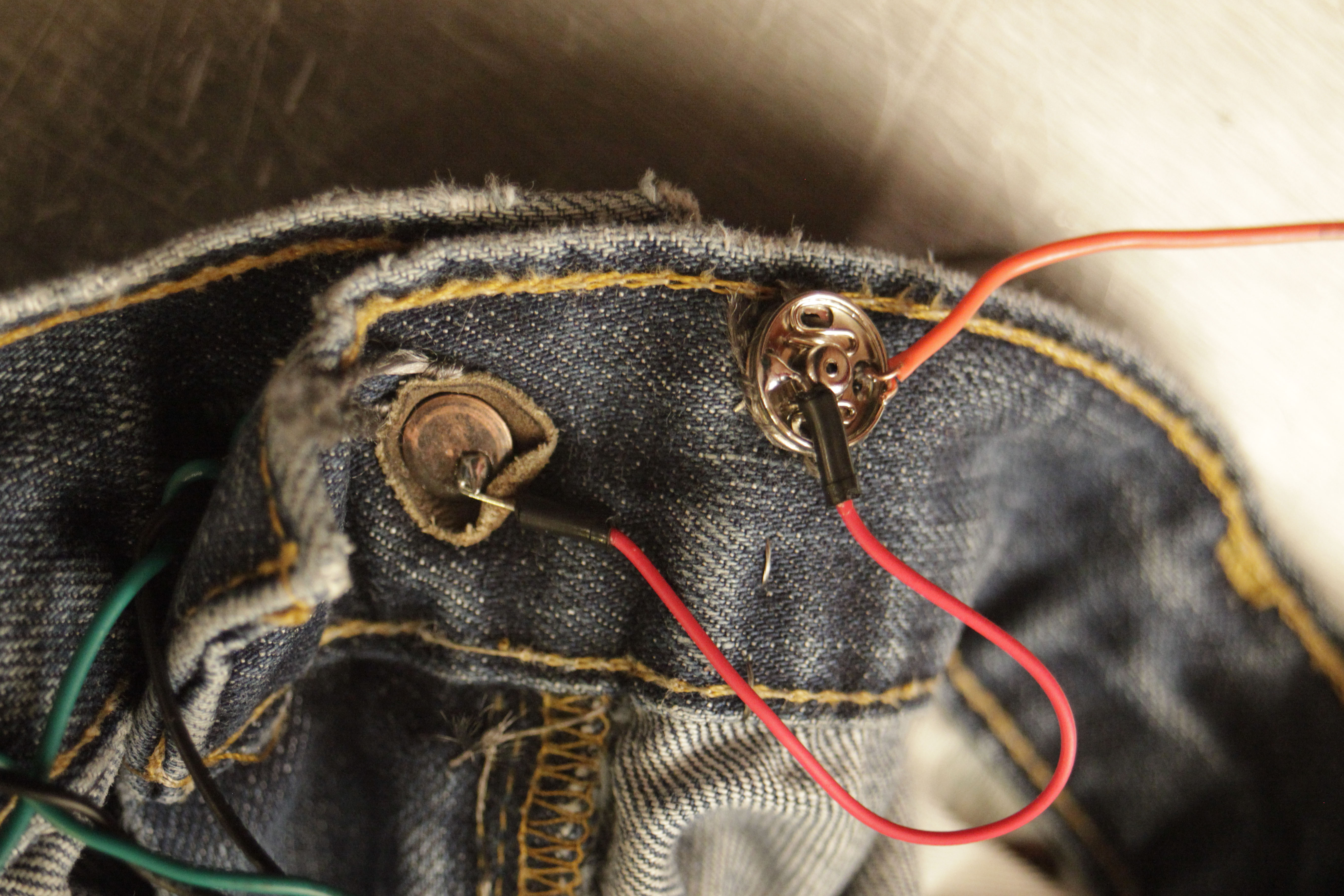 Picture of Zipper Potentiometer and Waist Button Switch