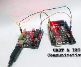 UART and I2C Communications Between UNO and MEGA2560