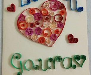 Quilling Valentine Card