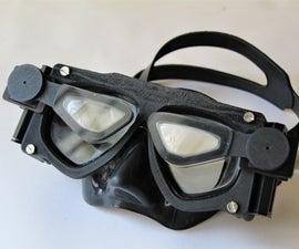 Diving Mask With Custom Add-on Lenses (V2.0) Made Using Photogrammetry
