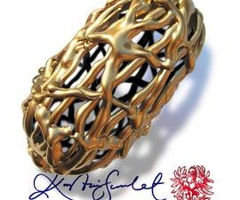 Make a Golden Filigree Dragon's Eggcase