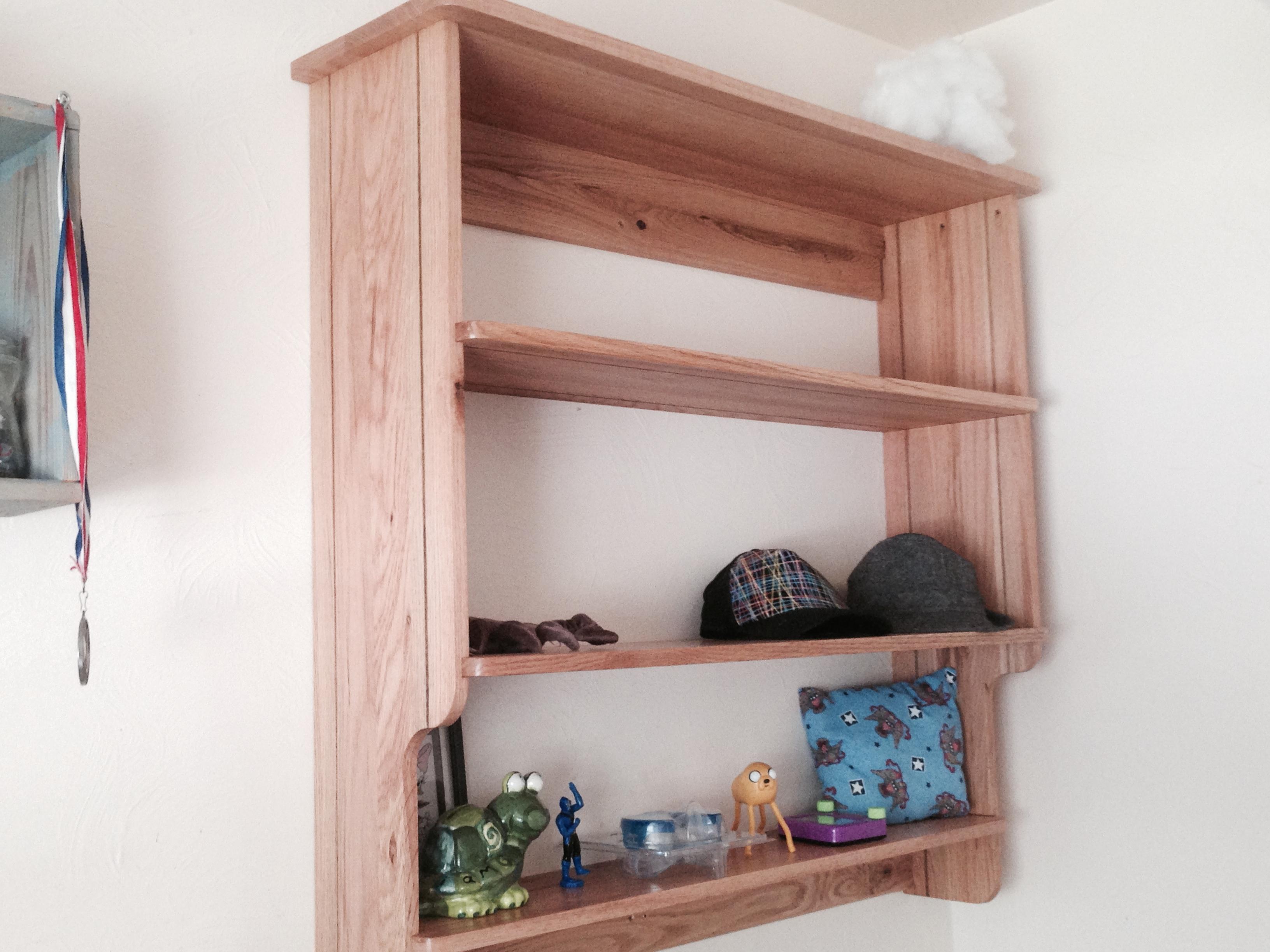 Picture of Reclaimed Red Oak Shelf