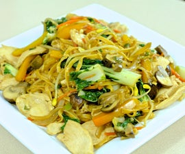 Chow Mein with Velveted Chicken