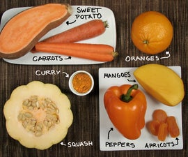 Orange Foods! Colorful cooking without artificial dyes.