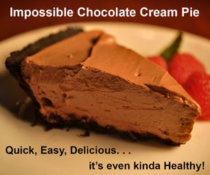 World's Easiest Chocolate Cream Pie Is Also the Healthiest, and It's Delicious.
