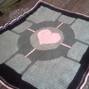 How to Crochet a Portal Companion Cube Throw Blanket