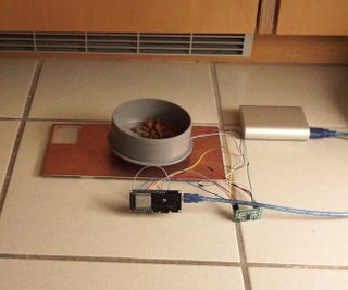 Connected Cat Feeder Using a Strain Gauge and an ESP32