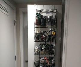 Shoe Organizer Cable Organization DIY Hack