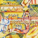 Seurat Inspired Pointillism Painting