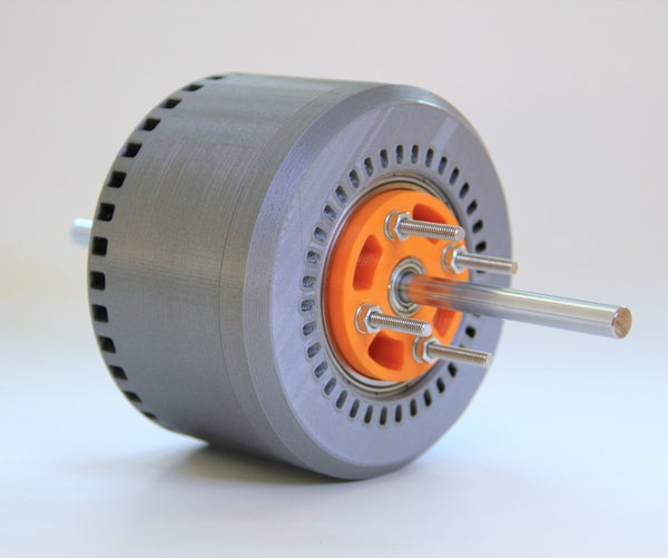 600 Watt, 3d-printed, Halbach Array, Brushless DC Electric Motor