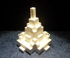 3D Building Papercraft With Grid Paper!!
