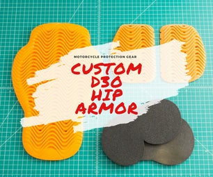 Budget Custom CE Rated Motorcycle Armor From D3O - Hip Armor
