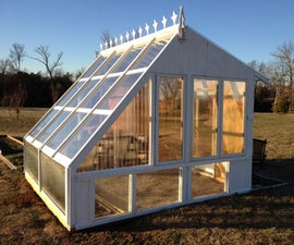 Backyard Greenhouse from reclaimed windows