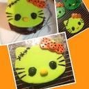 Hello Kitty Frankenstein (cupcake topper)!