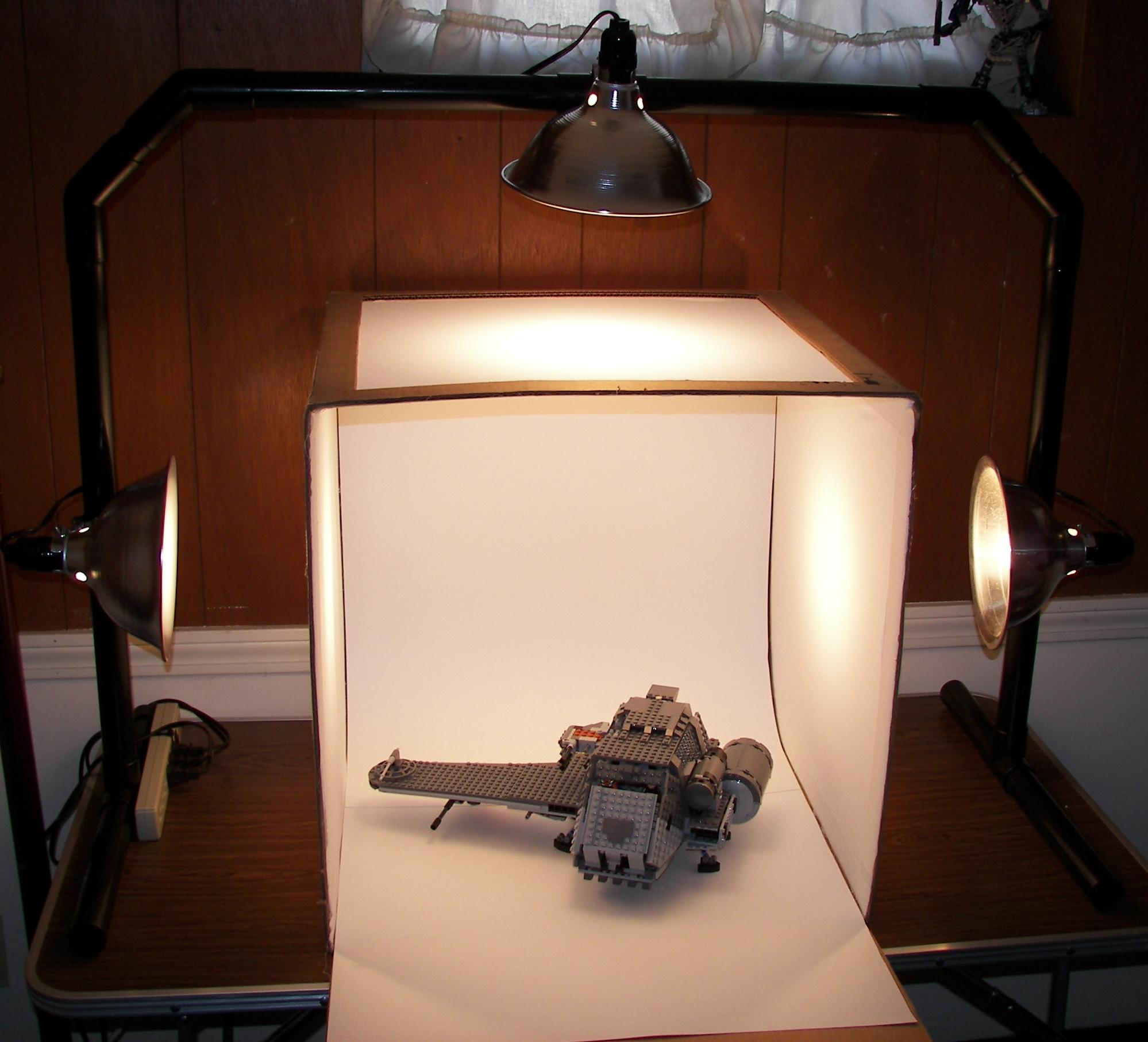 самодельный свет для фотографии заметно