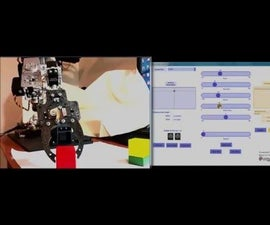 Homemade Robotic Arm Using Standard Parts Using Arduino and a Processing GUI